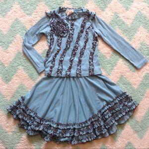 LEMON LOVES LIME circle skirt and ruffle top set 7